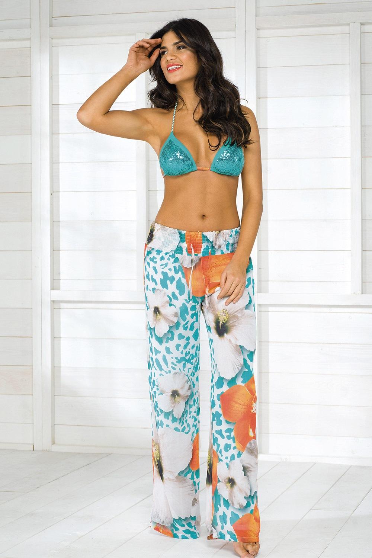 Pantalon de plaja Vacanze, colectia Luxury Garden
