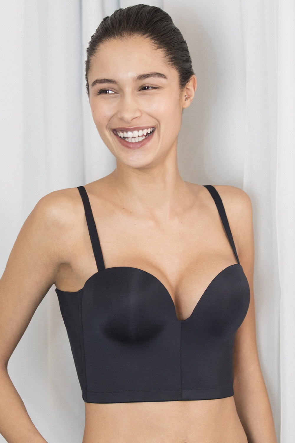 Sutien Wonderbra Ultimate Backless Push-Up black