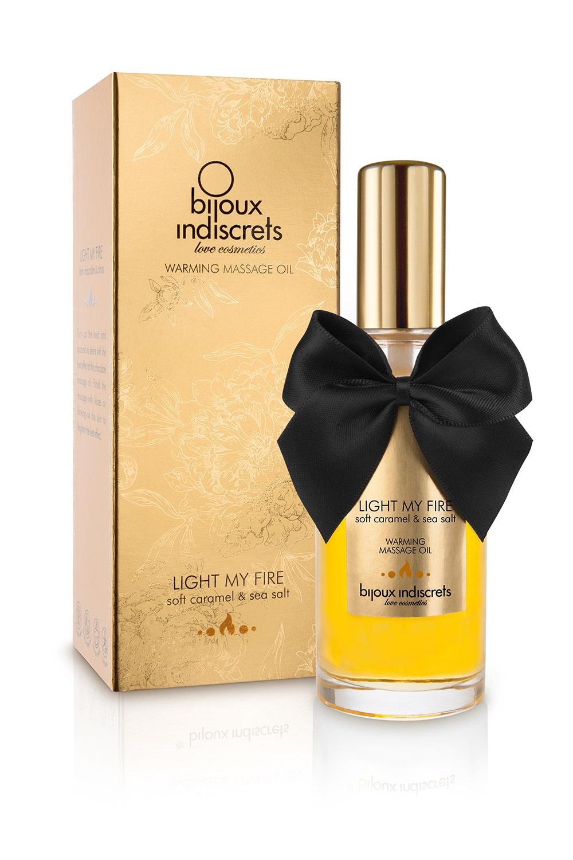 Bijoux Indiscrets ulei de masaj Light my Fire cu efect de incalzire si aroma de caramel