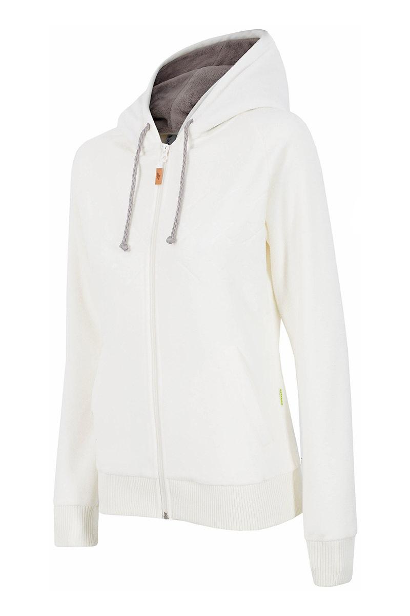 Hanorac dama 4f Creamy, material fleece