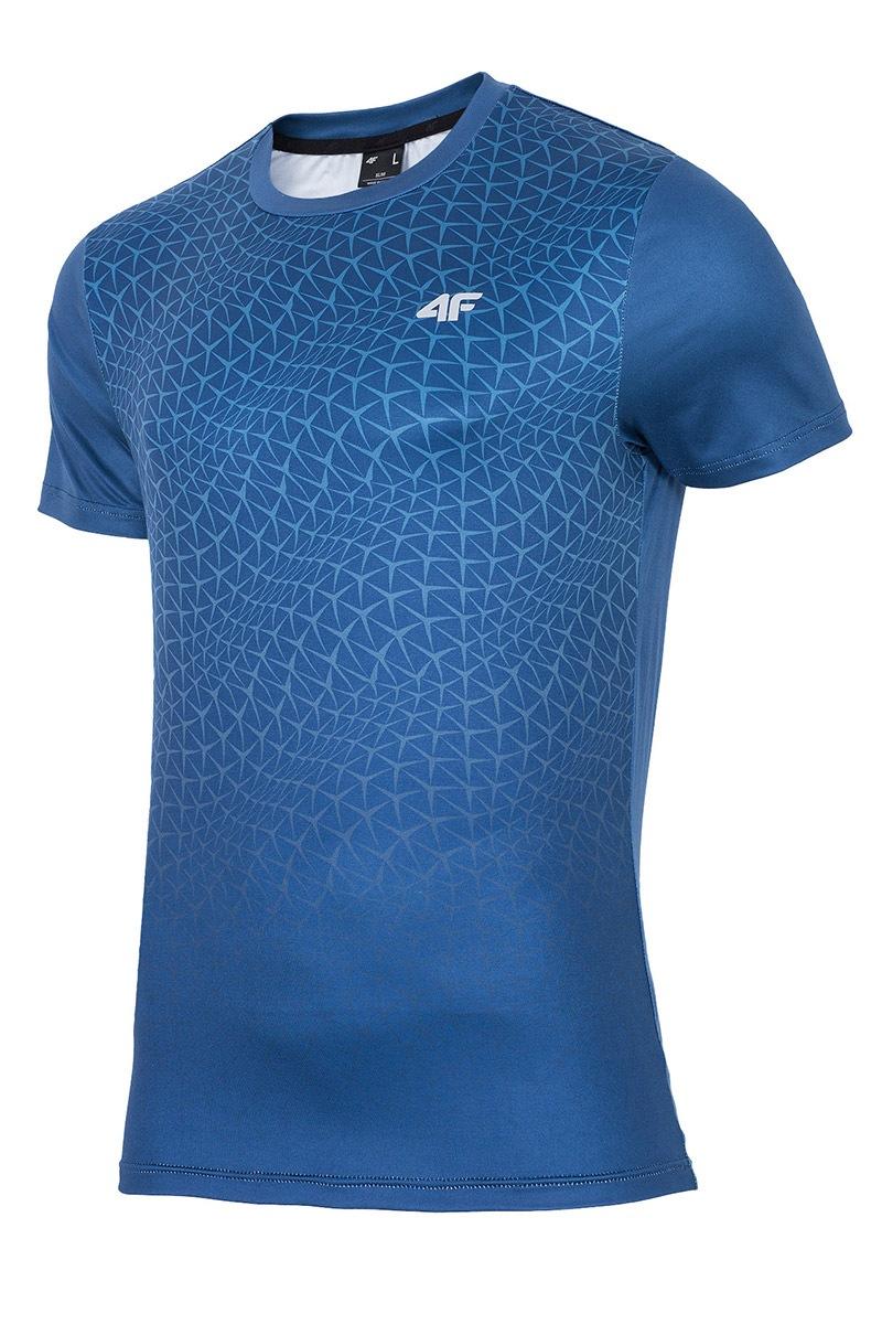 Tricou fitness barbatesc 4f Dynamic Blue