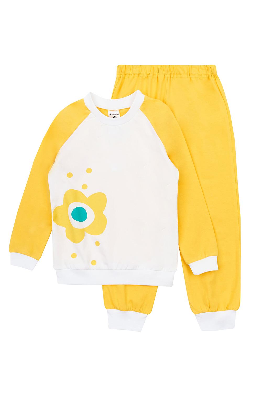 Pijama Flower Yellow pentru fetite