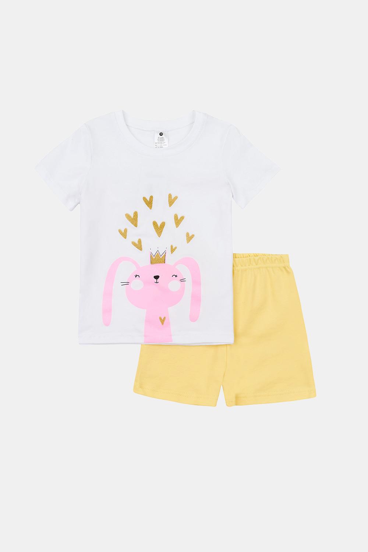 Pijama fetițe Rabbit, strălucește în întuneric