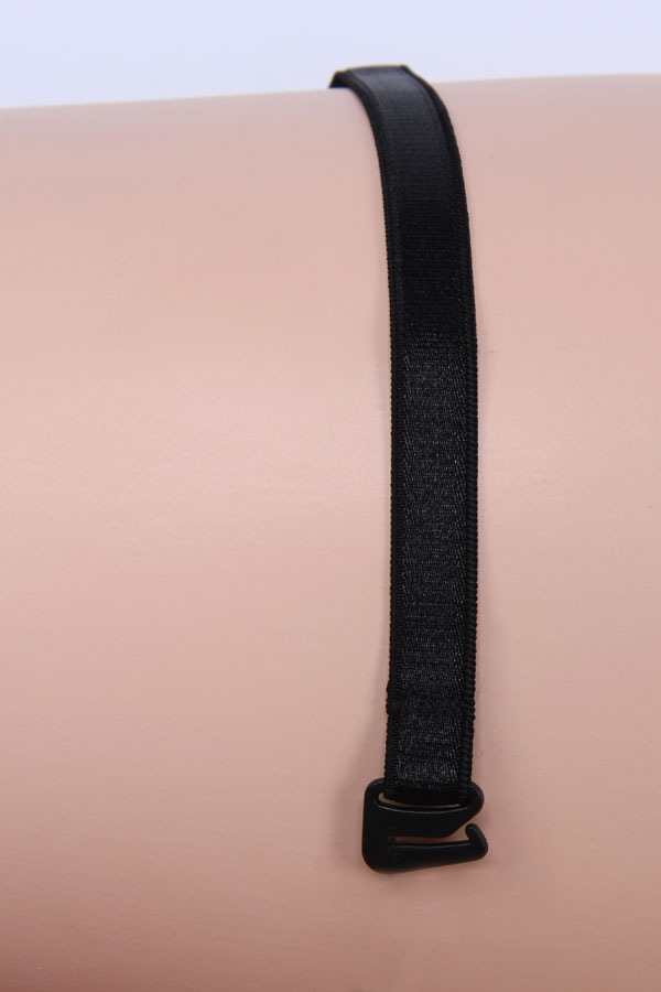 Bretele textile 10 mm negre